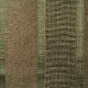 Lee Jofa Cotton Silk Satin Positano Stripe Bay & Taupe Upholstery MSRP $248/yd