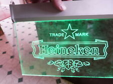 "Great! Unique! Heineken Beer Etched Acrylic Hanging Electric Sign 11.75"" x 8.5"""