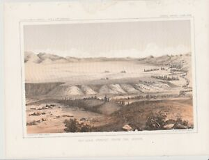 "1860'S USPRR LITHOGRAPH ""BIG HOLE PRAIRIE FROM THE NORTH"""