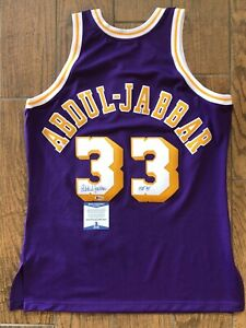 KAREEM ABDUL JABBAR Signed JERSEY w inscription BAS COA authentic Mitchell ness
