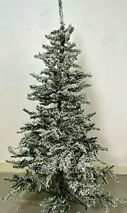 Luxury Shatchi Artificial Christmas Tree Frosted Snowy Alaskan Fir 6ft 180cm
