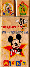 Mickey Mouse & Friends ~ 4 piece Disney Wood Mount Rubber Stamp Set #48778 Goofy