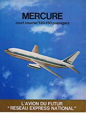 PUBLICITE ADVERTISING 034   1971   MARCEL DASSAULT  avions  MERCURE