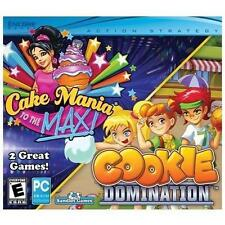Video Game PC Cake Mania to the MAX & Cookie Domination NEW SEALED