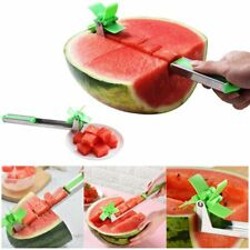 Stainless Steel Watermelon Cubes Cutter Windmill Shape Plastic Fruit Slicer Tool
