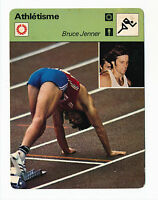 1976 BRUCE JENNER ROOKIE CARD Sportscaster FRANCE Earliest RC Caitlyn Track
