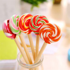 Lovelty Lolipop Ballpoint Pen Stationery School Office Writing Supplies 0.5mm TS