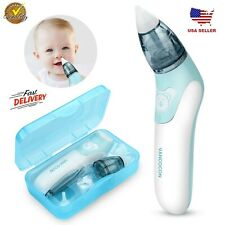 Baby Nasal Aspirator Electric Nose Cleaner Safe Hygienic Nostril w/ 3Snot Sucker