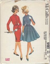 Vintage Pre-Teen Dress with Slim or Full Skirt Sewing Pattern M6481 Size 12