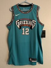Ja Morant Blue Memphis Grizzlies Vancouver City Jersey Size Medium New With Tags