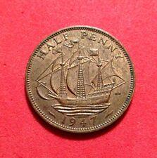 Uk - Great Britain 1947 Half Penny- George Vi - Nice Coin - Km#844 Tgc