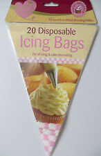 """20 12*7.5"""" Plastic Disposable Icing Piping Pastry Bags Cake Decorating Plastic"""