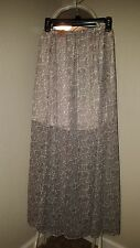 Hollister Maxi Skirt NWT sheer lined pale PINK and Gray paisley MEDIUM