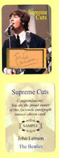 THE BEATLES / JOHN LENNON / AUTOGRAPH SAMPLE CARD & NOVELTY BILL