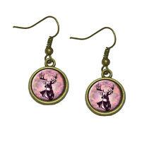 Deer Hunting Pink Camouflage Dangle Dangling Drop Earrings