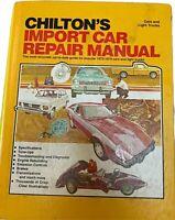 Chilton's Import Car Repair Manual Hard Cover 1973-1979 Cars & Light Trucks