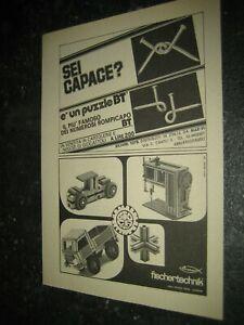 1975 -1#1 fischertechnik Werbung Katalog Prospekt catalogue catalogo pub ad