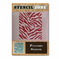 Muster Zebra-Tierdruck Mylar Airbrush Painting Wall Art Crafts sixM Schablone