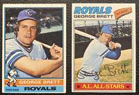 1976 / 1977 Topps Baseball George Brett 2nd & 3rd Years Royals