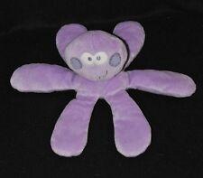 Peluche doudou pieuvre MOTS D'ENFANTS parme violet mauve 6 bras 20 cm NEUF