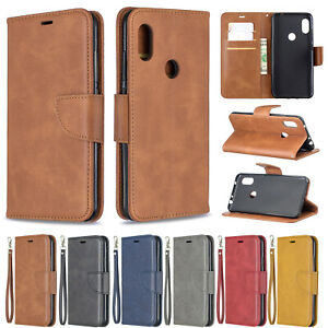 Classic Flip Magnetic PU Leather Stand Lot Card Pocket Strap Case Soft Cover BF1