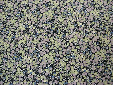 "LIBERTY OF LONDON TANA LAWN COTTON FABRIC ""Wiltshire Berry"" 2.3 M BLUES/PURPLES"