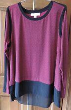 Women's Pretty Michael Kors High Low Long Sleeve Shirt Size 1X ~NWT~ $88