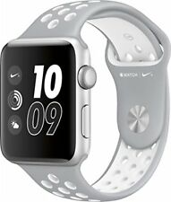 NEW Apple Watch Nike+ 42mm Aluminum Case Silver/White Nike Sport Band MNNT2LL/A