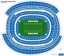2 Tickets Los Angeles Chargers vs New York Giants  12/12/21  Sofi Stadium in LA