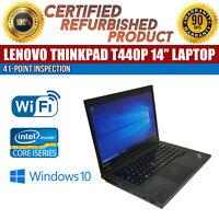 "C Grade Lenovo ThinkPad T440p 14"" Intel i5 8GB RAM 500GB HDD Win 10 WiFi Laptop"