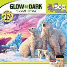 HIDDEN IMAGES GLOW IN THE DARK PUZZLE ARCTIC FRIENDS STEVE READ POLAR BEARS