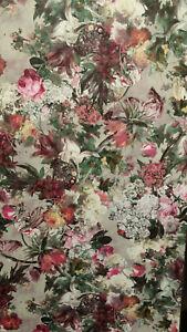 Passepartout, Grey, Bold Floral, Textured Wallpaper