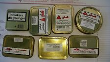 lot of 10 empty pipe  tobacco cans with israel stickers