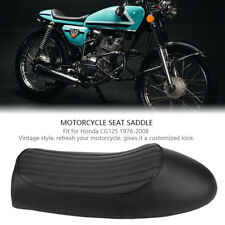 Vintage Sella Sedile per Moto Cafe Racer PP nero Per Honda CG125