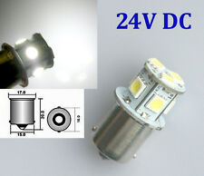 1x 24V DC White 1156 P21W Ba15s 8 5050 SMD LED Brake Tail Turn Signal Light Bulb