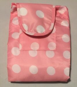 Portable Travel Changing Pad, Pink & White, NEW