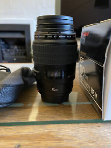 MINT Canon EF 100mm F/2.8 Macro USM Prime Lens From Japan