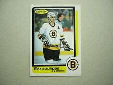 1986/87 O-PEE-CHEE NHL HOCKEY CARD #1 RAY BOURQUE NM SHARP!! 86/87 OPC