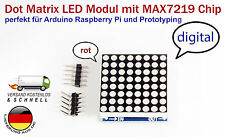 8x8 LED Matrix-Modulo max7219 Display LED Rosso per Arduino, Raspberry Pi + esempio