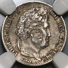 1836-K NGC AU55 France 1/4 Franc Rare 9500 Louis Philippe POP 1/0 Coin 20012101C