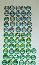 1998 Pokemon Master Trainer Board Game 33 Green /25 Blue  Chips Pogs (Parts)