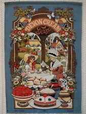"New listing Vista ""Devon Cream Teas"" Cotton Tea Towel Made in Britain"