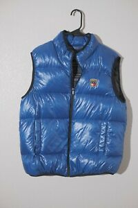 Tommy Hilfiger down puffer vest mens size medium blue