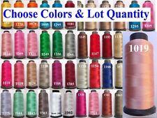 10 CRESCENT Viscose Rayon silk Embroidery Machine Thread 2500Mtr Each Cone Chose