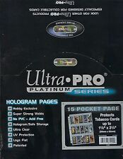 ULTRA PRO PLATINUM 100 15-POCKET ( Tobacco Cards ) Pages, New, Free Shipping