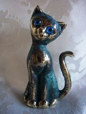 ★ Bronze Figur Katze cat mit antiker Patina (328-1)