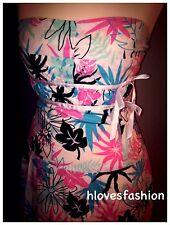🎀Floral Bandeau Skater Dress Size UK 12 EU 40 US 8 Flowers Bows FAST📮🎀