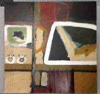 Scott Hile (American) Three Original Paintings on Board Signed Art Decor NYC