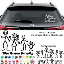 Personalised Matchstick Family Funny Car Van 4X4 Vinyl Decal Wall Sticker