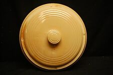 Old Vintage Antique Stoneware Crock Lid Pottery Kitchen Tool Decor Light Yellow